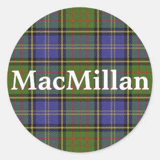 Adesivo Redondo Xadrez de Tartan escocesa de MacMillan do clã