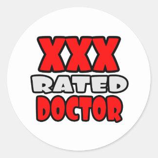 Adesivo Redondo XXX doutor avaliado