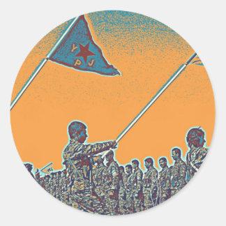 Adesivo Redondo YPG curdos - YPJ Figters do cargo do Curdistão de