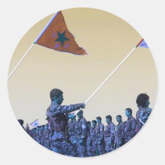 Adesivo Redondo YPG curdos - YPJ Figters do Curdistão 3.jp de