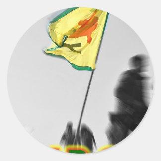 Adesivo Redondo YPG - Lutadores curdos da liberdade de Kobani