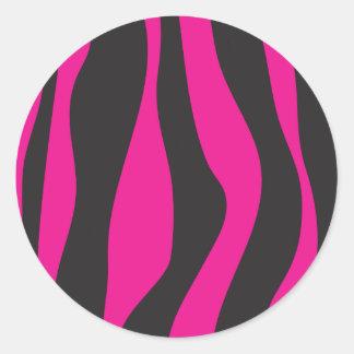 Adesivo Redondo Zebra cor-de-rosa