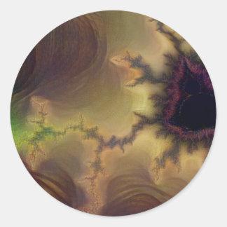 Adesivo Redondo Zumbido de da Vinci Mandelbrot