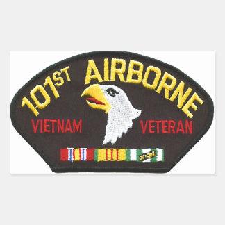 Adesivo Retangular 101st Veterano transportado por via aérea de