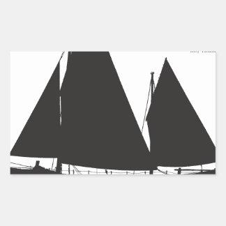 Adesivo Retangular 1891 barcos salva-vidas de navigação - fernandes