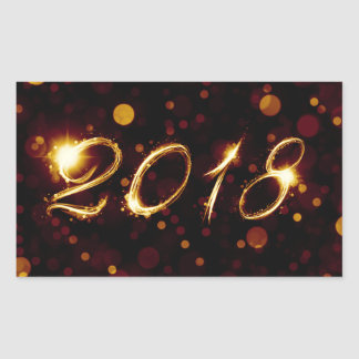 Adesivo Retangular 2018 (luzes do bokeh)