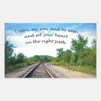Adesivo Retangular 23:19 dos provérbio
