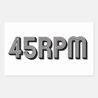 Adesivo Retangular 45 amantes do vinil do RPM