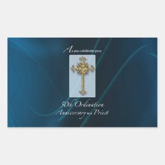 Adesivo Retangular 50th Aniversário da classificação do jubileu do