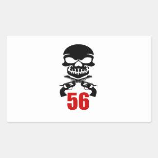 Adesivo Retangular 56 designs do aniversário