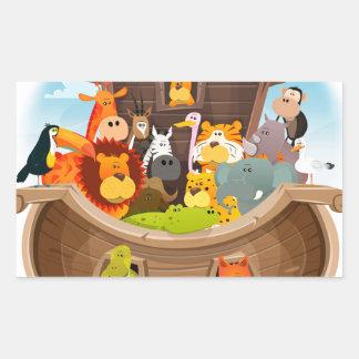 Adesivo Retangular A arca de Noah com animais da selva