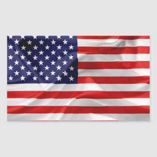 Adesivo Retangular A bandeira dos Estados Unidos da América