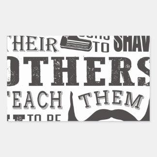 Adesivo Retangular A barba, algum pai ensina para barbear outro para