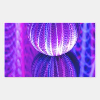Adesivo Retangular a bola de cristal reflete