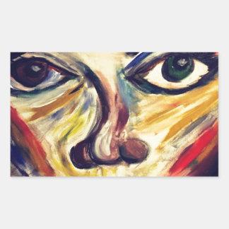 Adesivo Retangular A cara da mulher abstrata