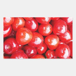 Adesivo Retangular A cereja a saúde da fruta que lembra a paixão
