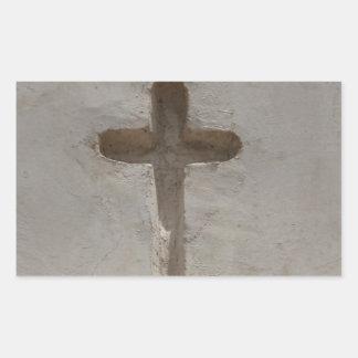 Adesivo Retangular A cruz cristã primitiva personaliza a bíblia