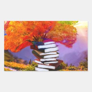 Adesivo Retangular A educação será sempre a base se todo o sucesso