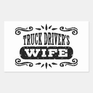 Adesivo Retangular A esposa do camionista