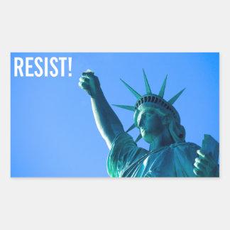 Adesivo Retangular A estátua da liberdade resiste
