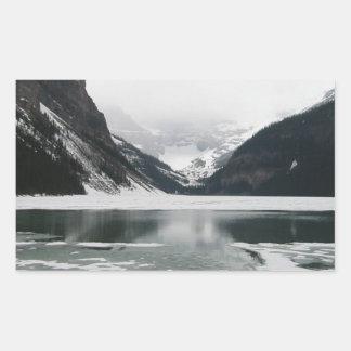 Adesivo Retangular A extremidade do inverno, Lake Louise
