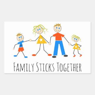 Adesivo Retangular A família cola junto