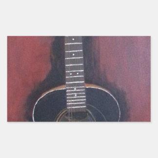 Adesivo Retangular A guitarra de Ryan