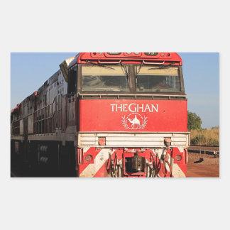 Adesivo Retangular A locomotiva do trem de Ghan, Darwin