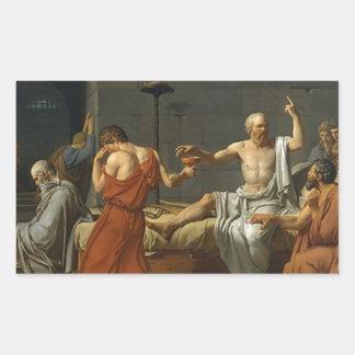 Adesivo Retangular A morte de Socrates