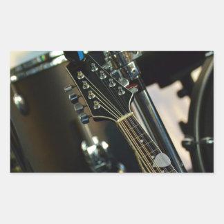 Adesivo Retangular A música dos instrumentos rufa o instrumento