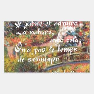 Adesivo Retangular A natureza no art. de Monet