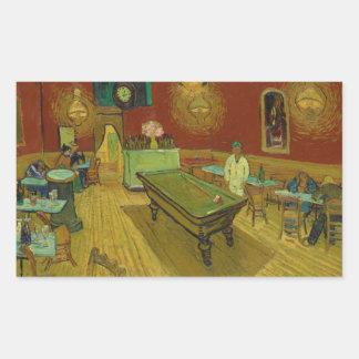 Adesivo Retangular A noite Café por Vincent van Gogh (1888)