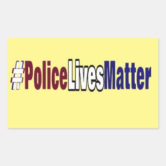Adesivo Retangular # a polícia vive matéria