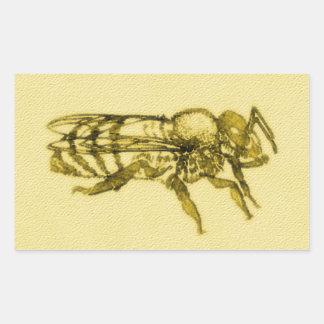 Adesivo Retangular Abelha do mel da aguarela
