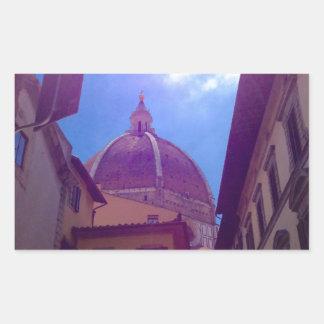 Adesivo Retangular Abóbada de Brunelleschi em Florença, Italia