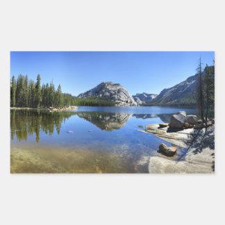 Adesivo Retangular Abóbada de Polly sobre o lago Tenaya - Yosemite