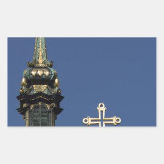 Adesivo Retangular Abóbadas ortodoxos da igreja cristã