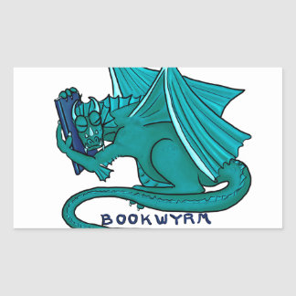 Adesivo Retangular Abraço Bookwyrm do livro