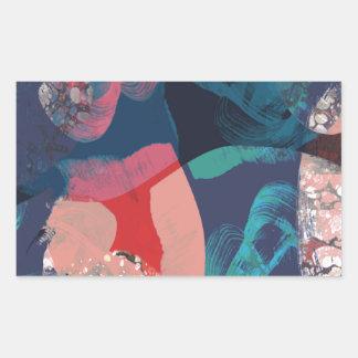 Adesivo Retangular Abstrato marmoreado