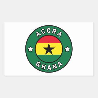 Adesivo Retangular Accra Ghana