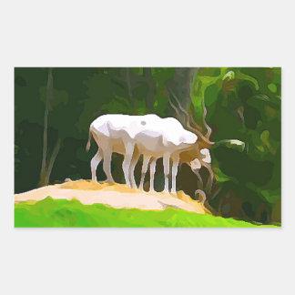 Adesivo Retangular Addax do safari