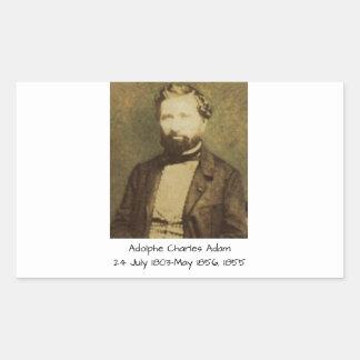 Adesivo Retangular Adolfo Charles Adam, 1855