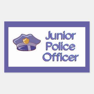 Adesivo Retangular Agente da polícia júnior