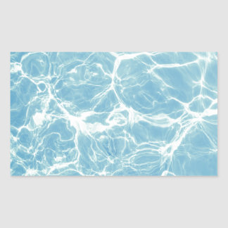 Adesivo Retangular Água da piscina, piscina, natação, verão