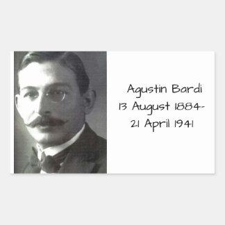 Adesivo Retangular Agustin Bardi