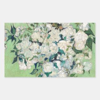 Adesivo Retangular Ainda vida: Vaso com rosas - Vincent van Gogh