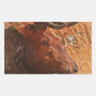 Adesivo Retangular Alces de Bull