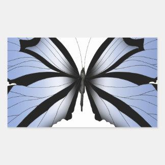 Adesivo Retangular Aleta azul gigante da borboleta 5 azuis