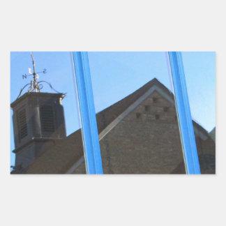 Adesivo Retangular Aleta de vento na janela