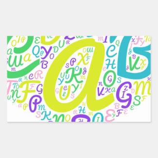 Adesivo Retangular alfabeto do amor